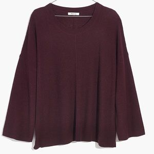 Madewell Northroad Pullover Sweater (S) Maroon